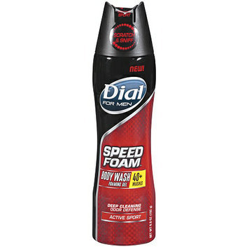 Dial® for Men Speed Foam Body Wash Foaming Gel Active Sport