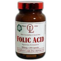 Olympian Labs Folic Acid, 800mcg (Pack of 2)