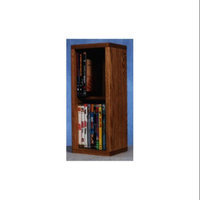 Wood Shed 2 Row Dowel DVD Storage (Dark)