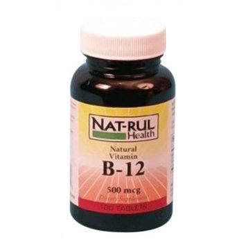 Natrul Health Vitamin B-12 500 Mcg Tablets - 100 Ea