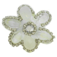 RIVIERA, A STYLEMARK CO Women's Riviera Flower Snap Clip with Jewels and Rhinestones -