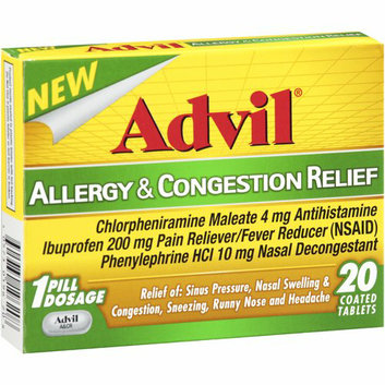 MISC BRANDS Advil Allergy & Congestion Relief Coated Tablets