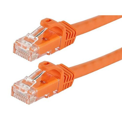 Monoprice 50FT FLEXboot Series 24AWG Cat6 550MHz UTP Bare Copper Ethernet Network Cable - Orange