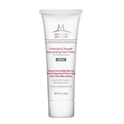 Mission Skincare Professional Strength Rejuvenating Foot Cream, 4-Ounce