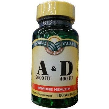 Spring Valley - Vitamin A & D, 100 Softgels