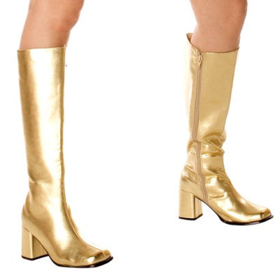 Buy Seasons Gold Gogo Boots Adult - 7.0