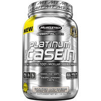 MuscleTech Essential Series Platinum 100% Casein Cookies and Cream Dietary Supplement Powder, 1.94 lbs