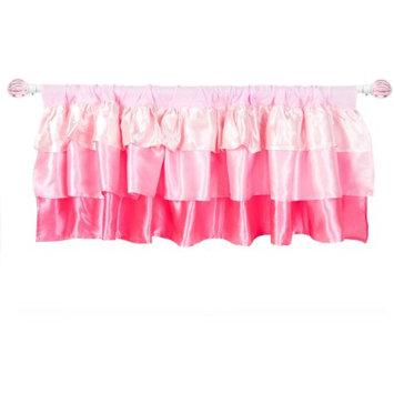 Generic Tadpoles Pink Ruffled Satin Window Valance