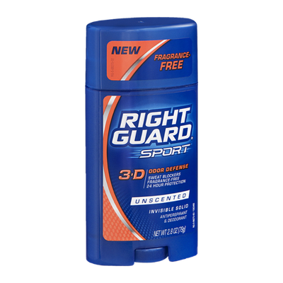 Right Guard Sport 3-D Odor Defense Anitperspirant & Deodorant Solid Unscented