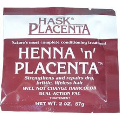 Hask Placenta Henna N Placenta Conditioning Treatment Strengthens & Repairs Dry, Brittle, Lifeless Hair 2Oz/57G