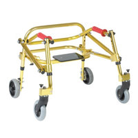 Wenzelite Rehab Nimbo Rehab Lightweight Posterior Posture Walker with Seat, Goldenrod Yellow, Tyke, 1 ea