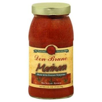 Don Bruno Marinara Sauce, 25 Ounce -- 6 per case.