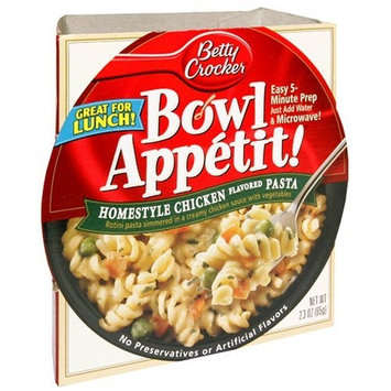 Betty Crocker Bowl Appetit, Homestyle Chicken Flavored Pasta, 2.3-Ounce Bowls (Pack of 12)
