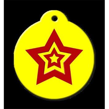 QR Code Pet ID Tag 01-HL-RS-MY Hero Star Mello Yellow Dog Tag