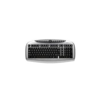 Compucessory COMPUCESSORY Multimedia Keyboard, Standard, 17-1/3x9-1/16x1-5/8, Black