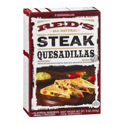 Red's All Natural Quesadillas Steak - 2 CT
