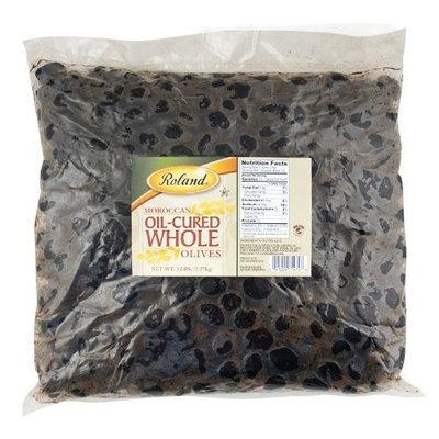 Roland Oil-Cured Whole Black Olives, 5-Pounds Bag