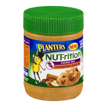 Planters NUT-rition Energy Mix Cinnamon Raisin Granola Nut Peanut Butter
