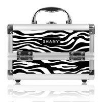 Shany Cosmetics Shany Zebra Makeup Train Case with Mirror