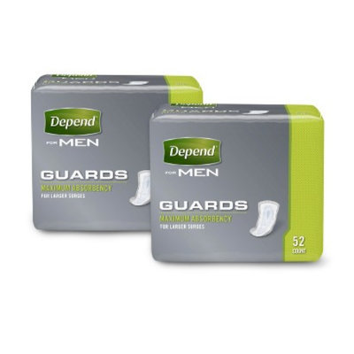 DEPEND Depend For Men Maximum Absorbency Incontinence Pads - 104 Count