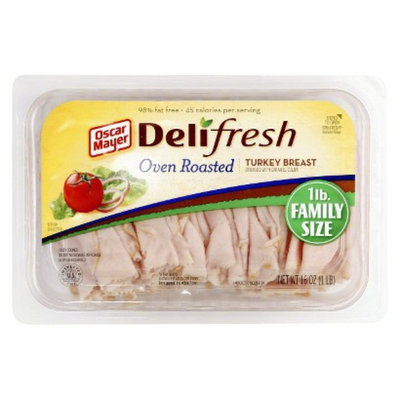 Oscar Mayer Deli Fresh Shaved Oven Roasted Turkey Breast 16 oz