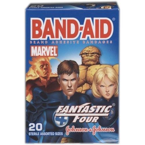 Band-Aid Brand Adhesive Bandages, The Fantastic 4, 20 sterile bandages, Assorted Sizes