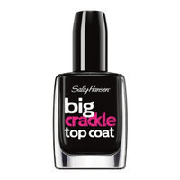 Sally Hansen Big Crackle Top Coat - Black On
