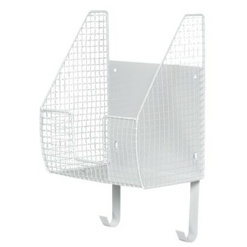 Spectrum Basket with Ironing Board Holder White