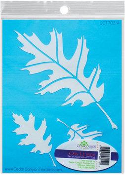 Cedar Canyon Textiles Inc Oak Leaves Stencil Set For Shiva Paintstiks-2/Pkg
