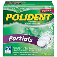 Polident Antibacterial Denture Cleanser for Partials-36 ct