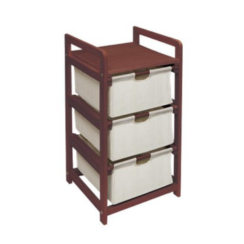 Badger Basket Cherry 3 Drawer Hamper/Storage Unit