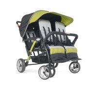 Foundatons Worldwide Foundations Quad Sport 4-passenger Stroller in Lime