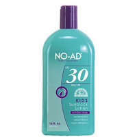 No Ad NO-AD Kids Sunblock Lotion, SPF 30, 16 Ounces