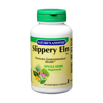 Nature's Answer Slippery Elm Bark Single Herb Supplement Vegetarian Capsules