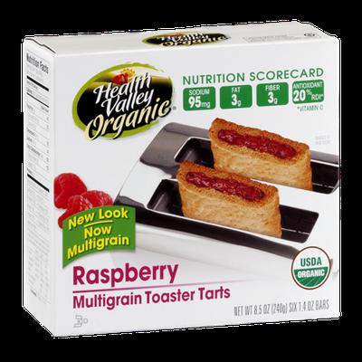 Health Valley Organic Multigrain Toaster Tarts Raspberry - 6 CT
