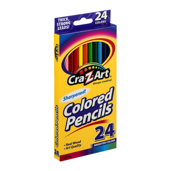 Cra-Z-Art Sharpened Colored Pencils Brighter Colors - 24 CT