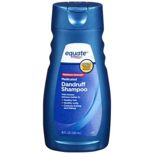 Equate Maximum Strength Medicated Dandruff Shampoo, 11 fl oz