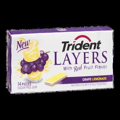Trident Layers Grape Lemonade