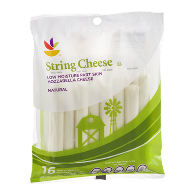 Ahold String Cheese Mozzarella - 16 CT