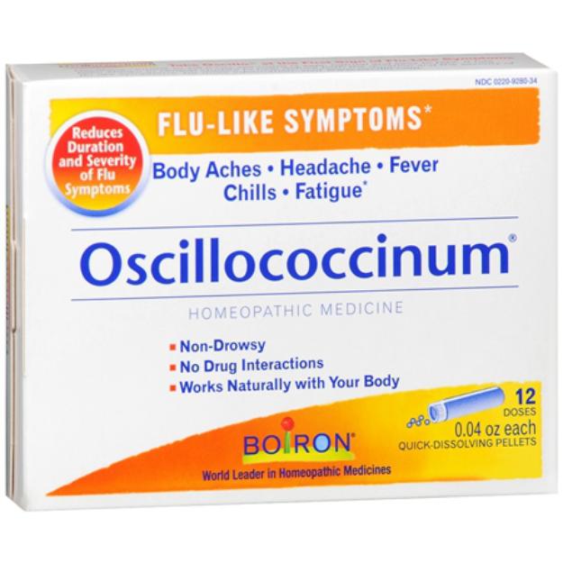 Boiron Oscillococcinum Homeopathic Flu Quick-Dissolving Pellets 12 Pk