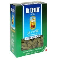 De Cecco, Pasta Spinach Fusilli, 16 OZ (Pack of 20)