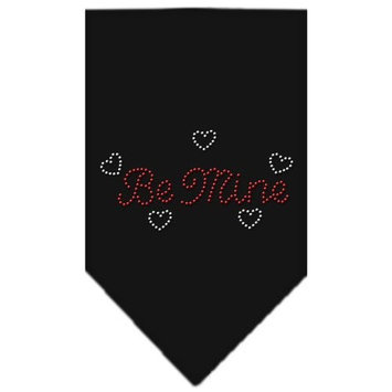 Mirage Pet Products Be Mine Rhinestone Bandana, Small, Black
