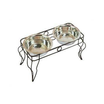 Pet Goods 660 Wrought Iron Pet Double Diner