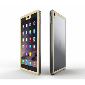 iPad Air 2 Case - roocase Gelledge iPad Air 2 2014 Premium Hybrid PC / TPU Full Body Protective Case Cover (Fossil Gold) for Apple iPad Air 2 (2014) 6th Generation Latest Model