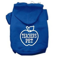 Mirage Pet Products Teachers Pet Screen Print Pet Hoodies Blue Size M (12)