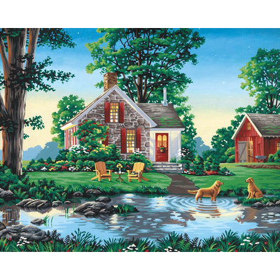 Dimensions 16x20 Paint By Number Kit - Summer Cottage