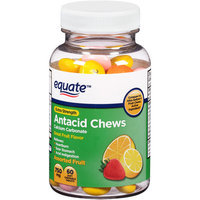 Equate Extra Strength Antacid Chews Assorted Fruit Soft Chewable Tablets, 750mg, 12 count