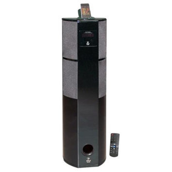 Pyle 600 Watt Digital 2.1 Channel Home Theater Tower w/ iPod & iPhone Docking Station - Piano Wood Finish