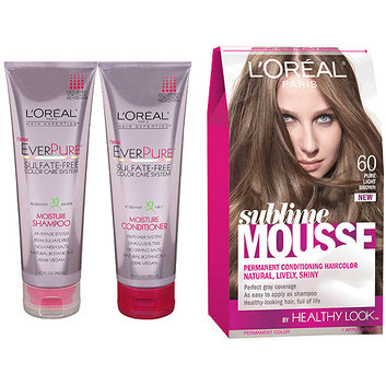 L'Oréal Sublime Mousse Haircolor + EverPure Hair Care Value Saving Bundle