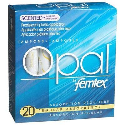 Femtex Opal Plastic Applicator Scented Tampons, Regular Absorbency